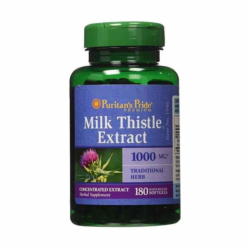 Puritan's Pride   - Milk Thistle 4:1 Extract 1000 mg (Silymarin)